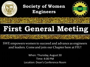 First General Meeting Fall 2012